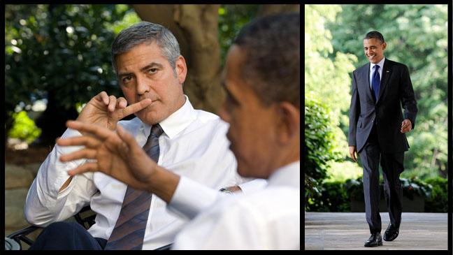 George Clooney President Barack Obama - H 2012