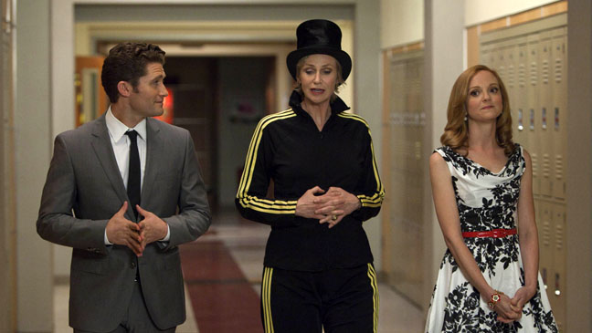 Glee Nationals Matthew Morrison Jane Lynch Jayma Mays - H 2012