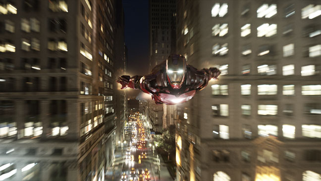 The Avengers Iron Man Flying - H 2012
