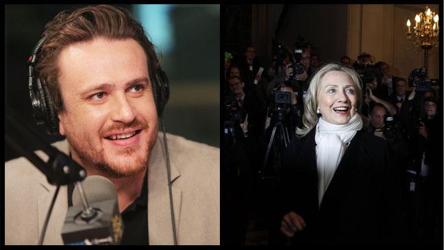 Jason Segel Hilary Clinton Split - H 2012
