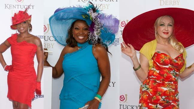 Kentucky Derby 2012 - Mary J. Blige - Cyndi Lauper - Star Jones split