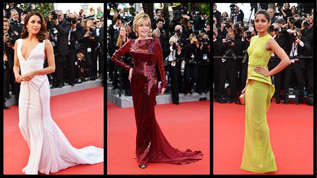 Cannes Red Carpet Fonda Longoria Pinto Split - H 2012