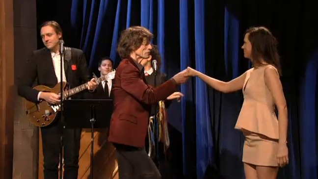 Mick Jagger and Kristen Wiig SNL 2012