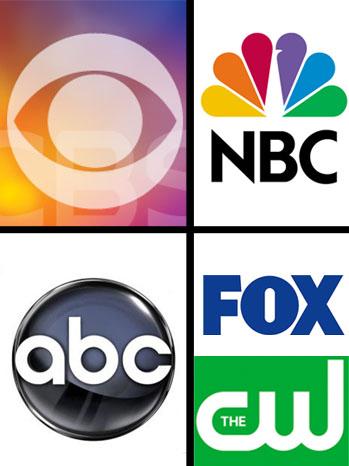ABC NBC FOX CW CBS logo split - P 2012