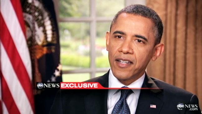 Barack Obama Backs Gay Marriage Screengrab - H 2012