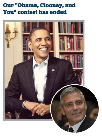 Obama Clooney and You - P 2012