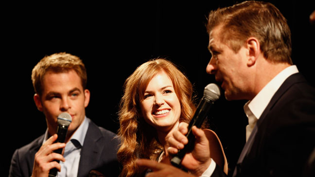 Alec Baldwin Chris Pine and Isla Fisher Cannes 2012