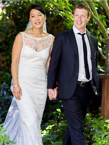 Priscilla Chan Mark Zuckerberg Wedding 2012