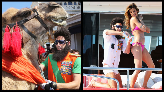 Cannes  Sacha Baron Cohen Camel Yacht Split- H 2012