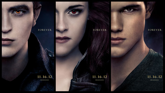 Twilight Breaking Dawn Two Character Posters - H 2012