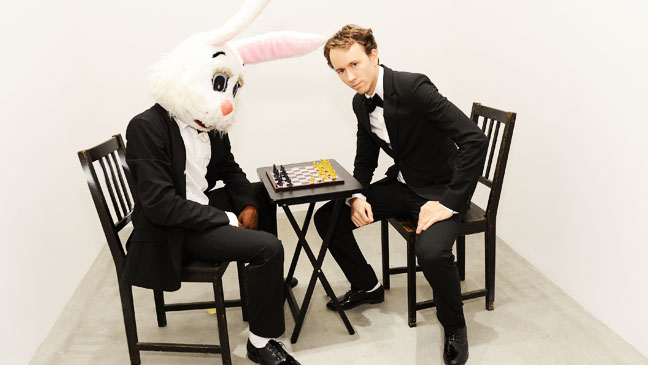 Tyler Shields with Bunny Playing Chess - H 2012