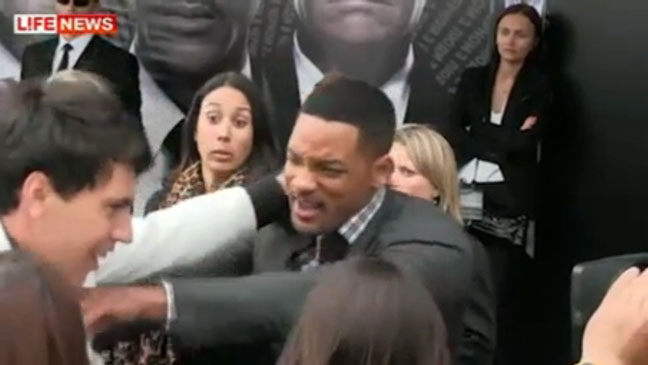 Will Smith Slaps Russian Reporter - H 2012