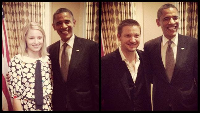 Dianna Agron Jeremy Renner Barack Obama - H 2012