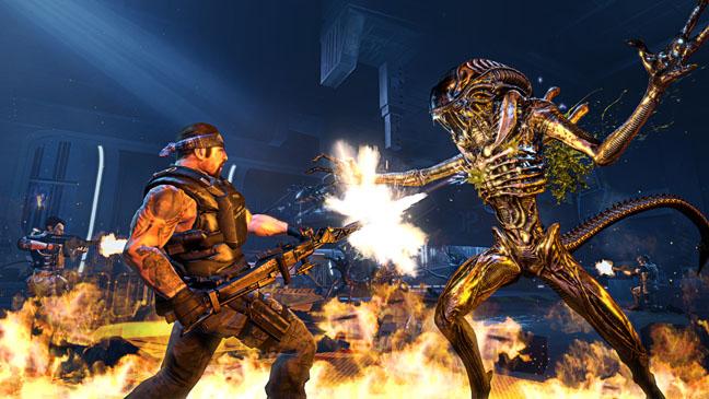 Aliens Combat Video Games - H 2012