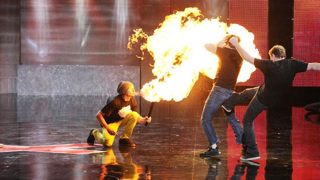 America's Got Talent Las Vegas Fire Blowing - H 2012
