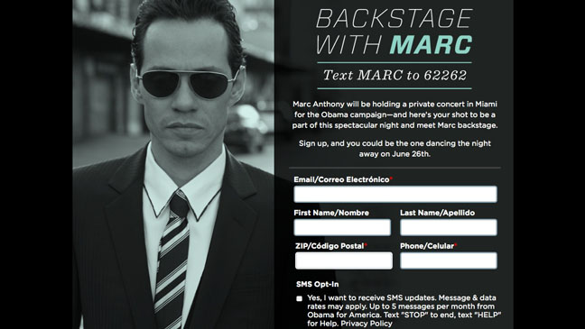 Backstage with Marc Anthony - H 2012