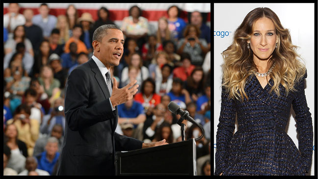 Barack Obama Sarah Jessica Parker - H 2012