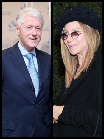 Bill Clinton Barbra Streisand Split - P 2012