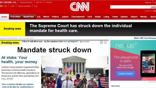 CNN Mandate down - H 2012