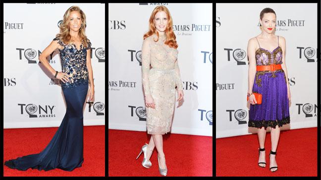 Tony Awards Crow Chastain Seyfried Split - H 2012