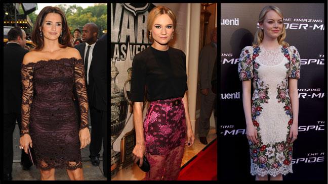 Penelope Cruz Diane Kruger Emma Stone - H 2012