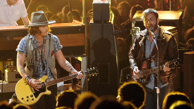 Johnny Depp Black Keys MTV Movie Awards - H 2012
