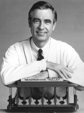 Fred Rogers with Trolley - P 2012