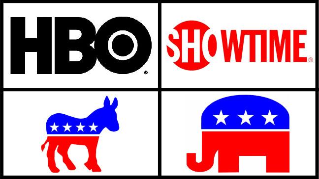 HBO Showtime Democrats Republicans - H 2012