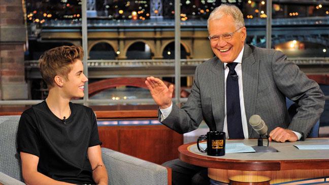 Justin Bieber on David Letterman - H 2012