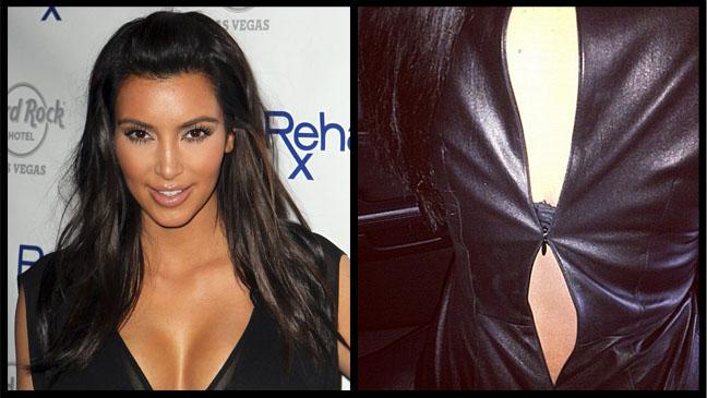 Kim Kardashian Black Dress - P 2012