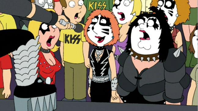 Family Guy Kiss Crowd - H 2012
