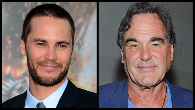 Taylor Kitsch and Oliver Stone - H 2012