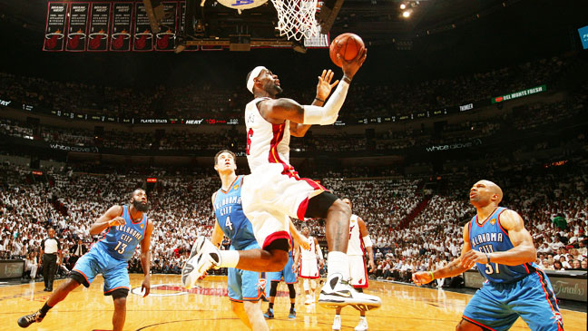 Lebron James playing NBA Finals - H 2012
