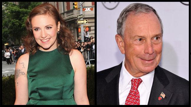 Lena Durham Michael Bloomberg Split - H 2012