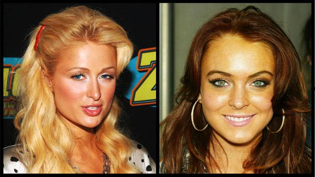 Paris Hilton Lindsay Lohan Spray Tan Split - H 2012