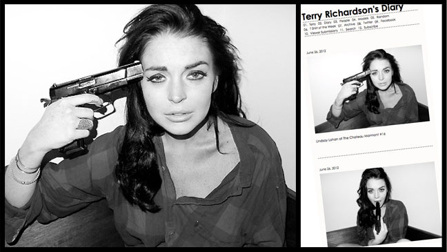Lindsay Lohan Chateau Marmont Terry Richardson - H 2012