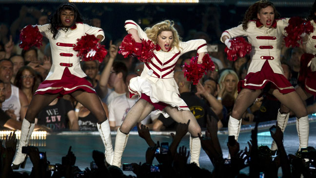 Madonna Concert Performance Cheerleaders - H 2012