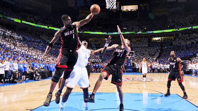 NBA Playoffs Miami Heat Oklahoma City Game 2 - H 2012
