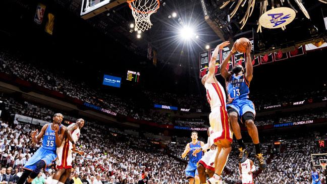 NBA Playoffs Miami Heat Oklahoma City Game 4 - H 2012