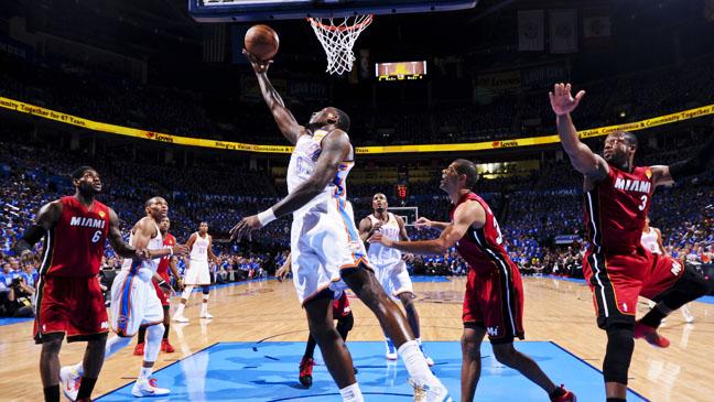 NBA Playoffs Miami Heat Oklahoma City Game 1 - H 2012