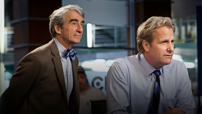 The Newsroom HBO still Jeff Daniels and Sam Waterston