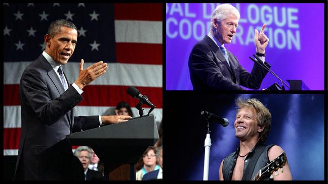 Barack Obama Bill Clinton Bon Jovi - H 2012