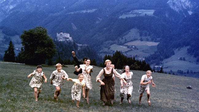 The Sound of Music Family running on Mountain- H 2012