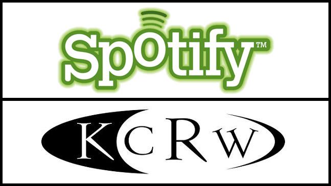 KCRW Spotify logos split L