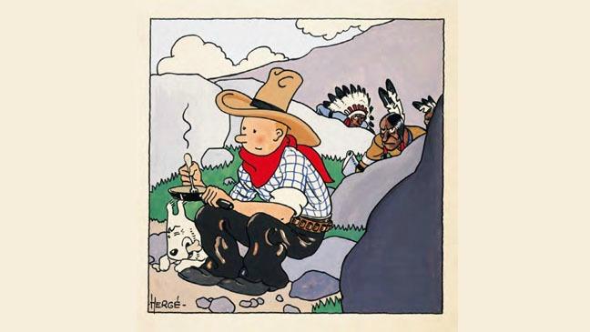 Tintin in America Cover