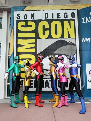 Saban's Power Rangers Pose at the 2012 Comic-Con