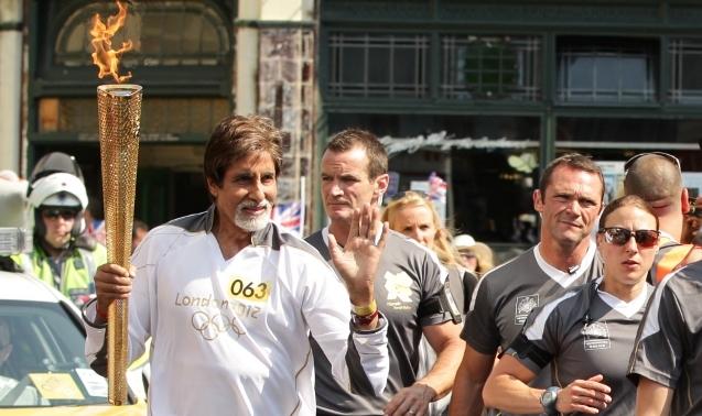 Amitabh Bachchan London 2012 Olympic Torch Relay