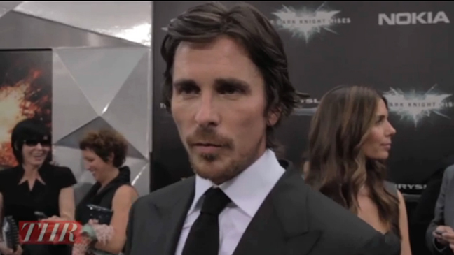 Dark Knight Rises Premiere Christian Bale Mourns Trilogy S End Tom Hardy Talks Bane Video Hollywood Reporter