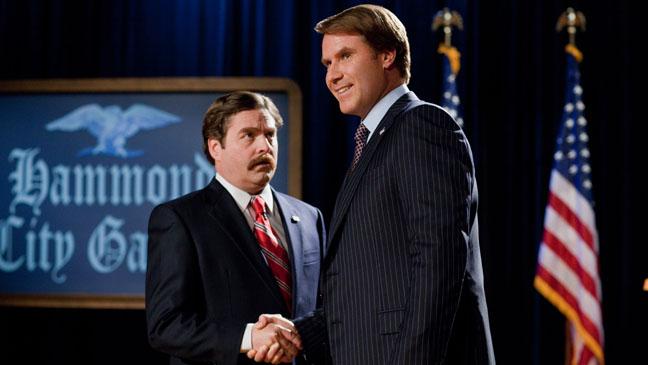 Campaign Will Ferrell Zach Galifianakis Shaking Hands - H 2012