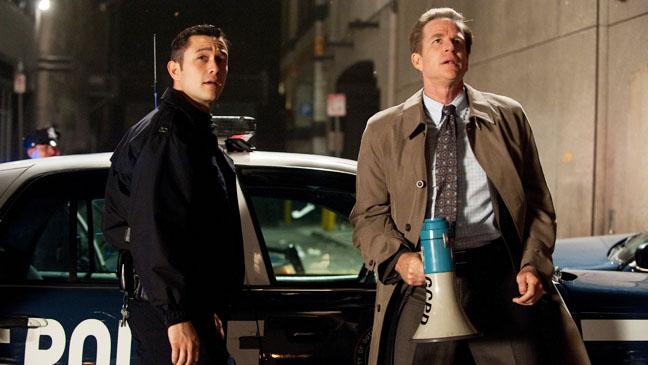 Dark Knight Rises Joseph Gordon Levitt with Police Still - H 2012